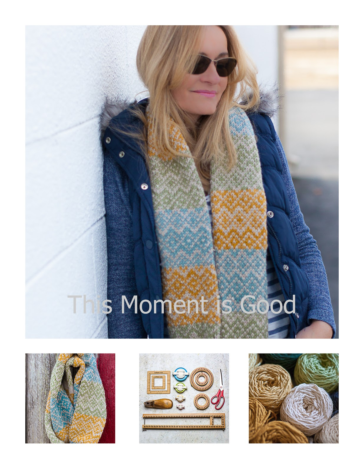 Loom Knit Fair Isle Infinity Scarf (Free Pattern) | Loom Knitting by ...