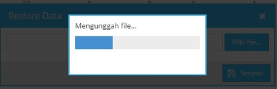 proses unggah file backup PMP