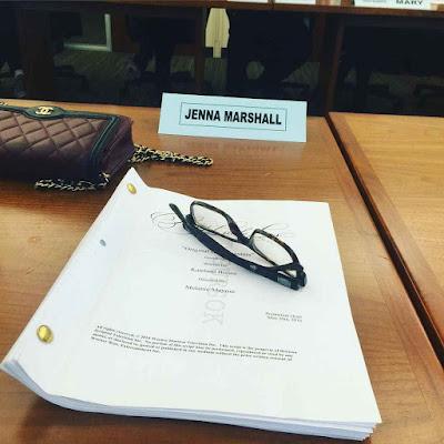 Tammin Sursok (Jenna Marshall) bts table read PLL 7x07