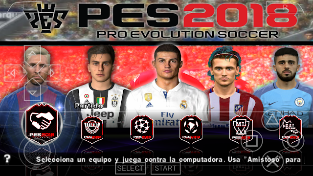 "PES 2018 LITE ""500MB"" PARA PPSPP/PSP/PC/ANDROID"