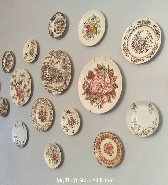 decorating with thrifted vintage plates