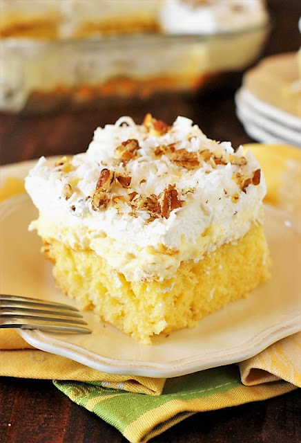 Pineapple Coconut Sheet Cake Image