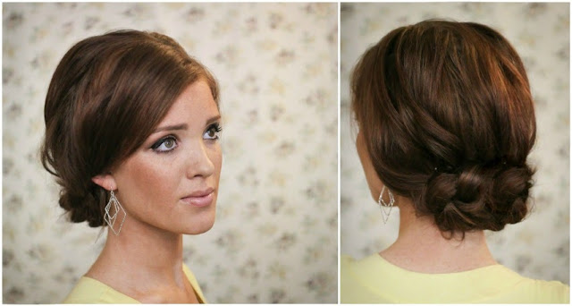 Magnificent The Freckled Fox Summers End Hair Week The Easy Knotted Updo Short Hairstyles Gunalazisus