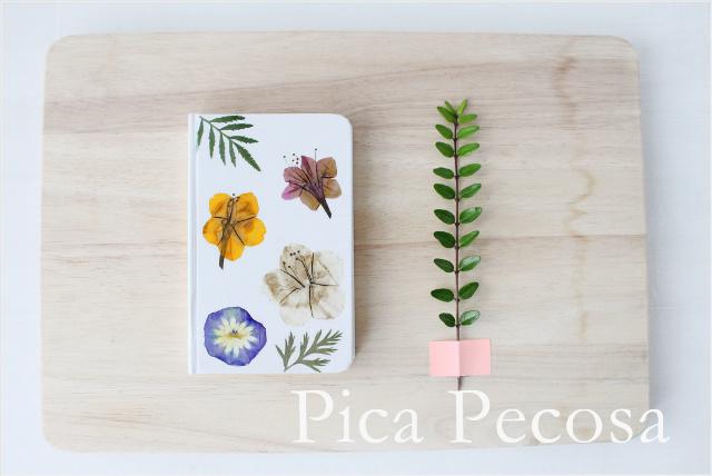 Personaliza Un Cuaderno Con Flores Secas Prensadas Pica Pecosa