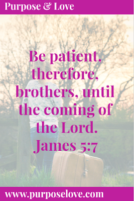Be patient therefore, brothers, until the coming of the Lord. James 5:7
