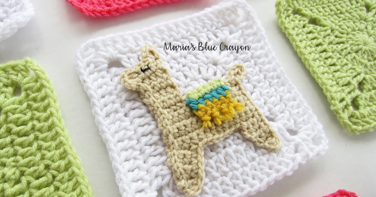Crochet Llama Applique And Granny Square Free Crochet Pattern