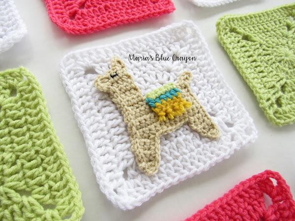 Crochet Llama Granny Square - Free Crochet pattern