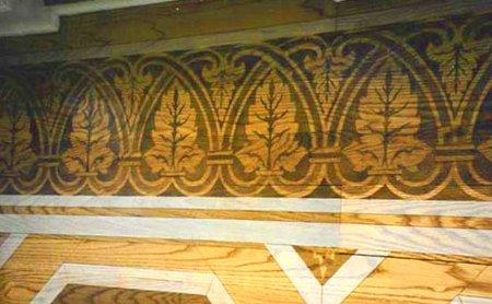 Tinted with templates on hardwood floors 2