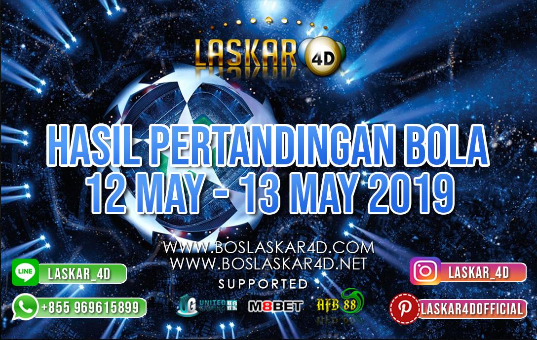 HASIL PERTANDINGAN BOLA 12 MAY – 13 MAY 2019