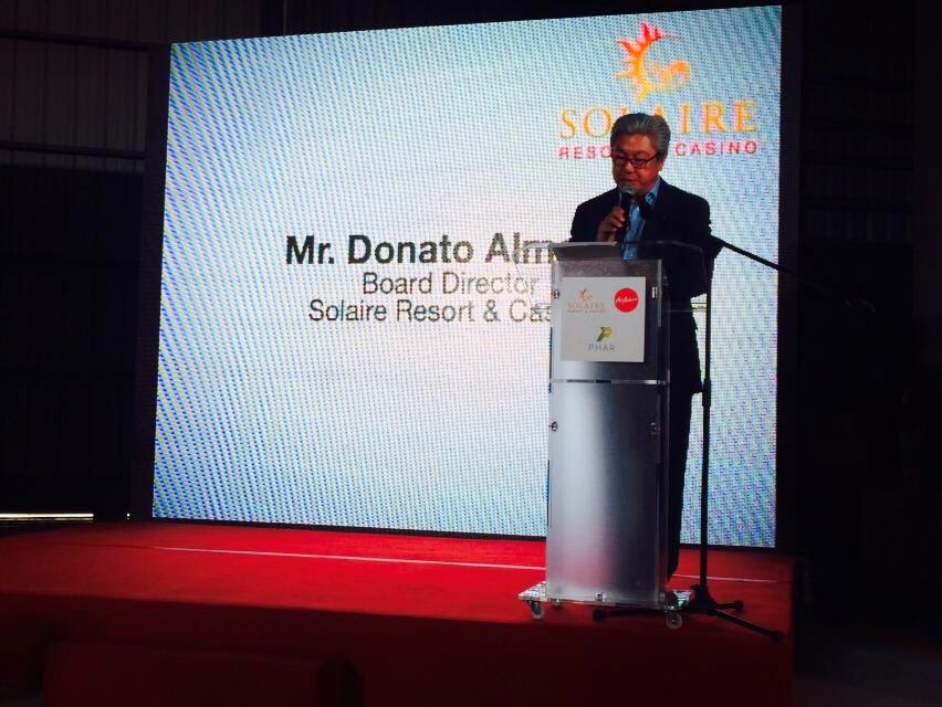 Solaire Resort and Casino Board Director Donato Almeda