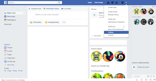 Cara Mengubah Bahasa Pada Facebook