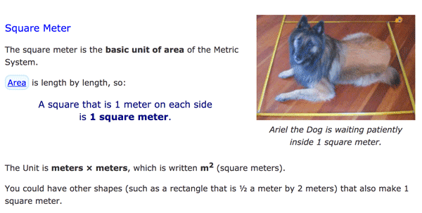 Definition of square meter