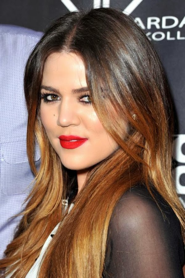 Khloe Kardashian Awesome Ombre Hairstyle Global