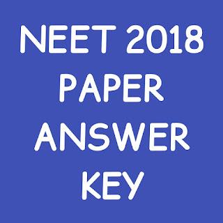 Neet 2018 Answer Key