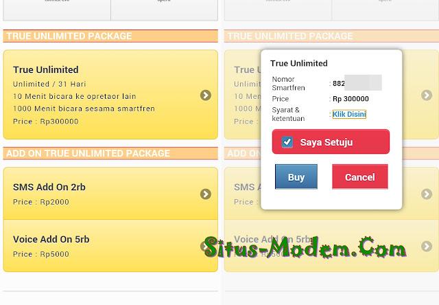 Yesss Pelanggan Smartfren 4G LTE Non Bundling, Juga  Bisa Langganan Paket True Unlimited