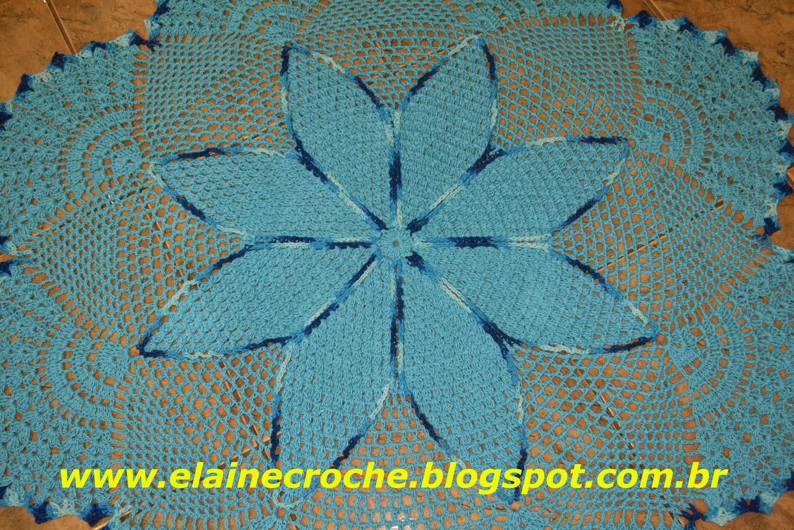 Elaine Croche Tapete Yuca Em Croch V Deo Aula Croch