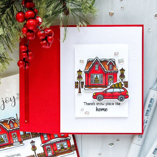 Sunny Studio Stamps: Christmas Home Customer Card Share by Yana Smakula