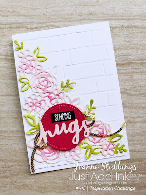 Jo's Stamping Spot - Just Add Ink Challenge #415 using Springtime Impressions Thinlits by Stampin' Up!