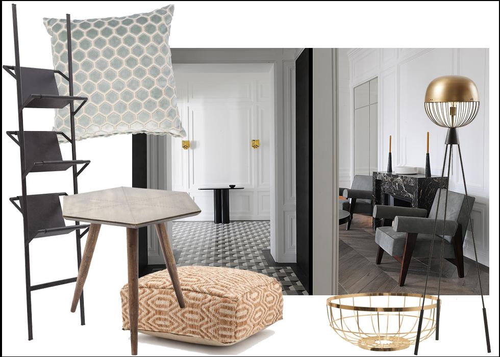 Robin Design, PtLiving, La Forma, Interior, Shopping, Paris, eclectic, Joseph Dirand
