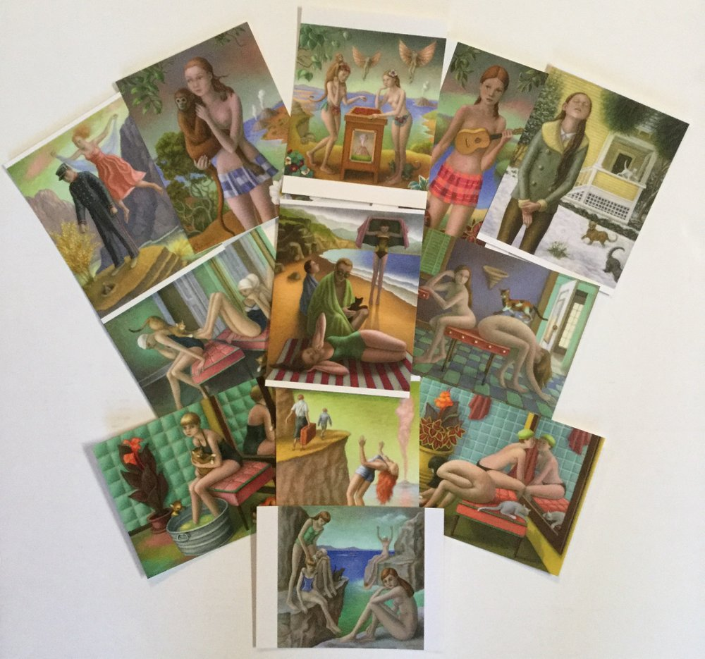 Amy Crehore Art Postcards; NOW A Set of 16 Glossy offset printed cards