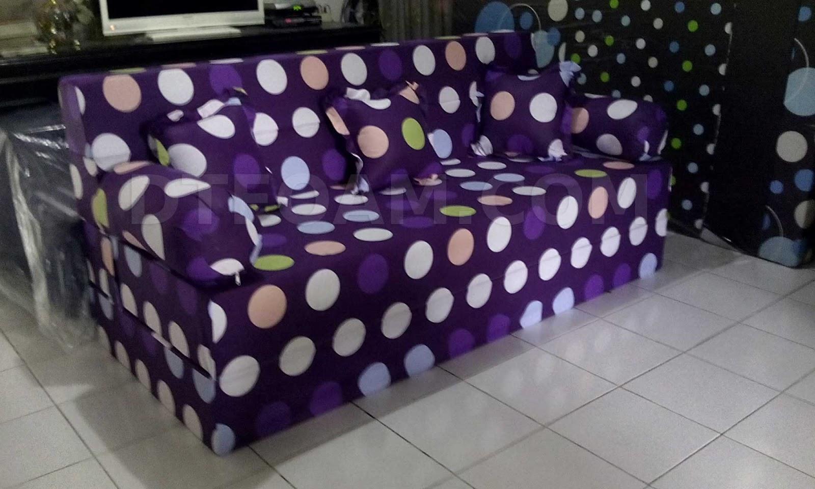 sofa bed kasur busa lipat inoac jakarta short seat depth harga termurah di 081384841348