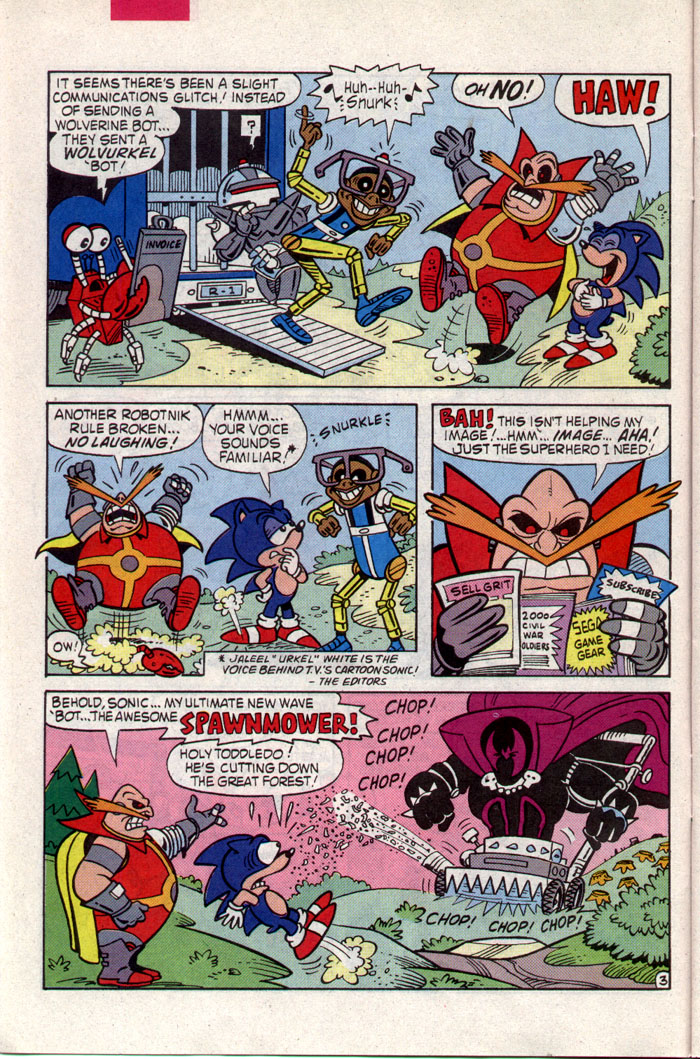 Read online Sonic The Hedgehog comic -  Issue #8 - 9