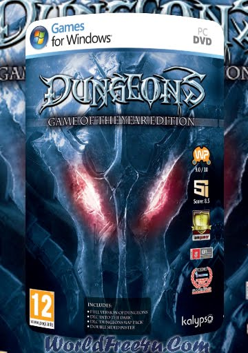 Cover Of Dungeons Game Of The Year Edition (2012) Full Latest Version PC Game Free Download Mediafire Links At worldofree.co