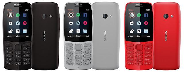 pilihan warna Nokia 210 2019