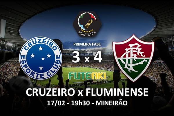 Veja o resumo da partida com os gols e os melhores momentos de Cruzeiro 3x4 Fluminense pela 2ª rodada da Copa Sul-Minas-Rio 2016.