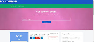 coupon site template for blogger