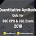 Important Quantitative Aptitude Questions For SSC CGL 2018 : 11th January 2019