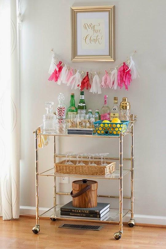 cocktail cart diy