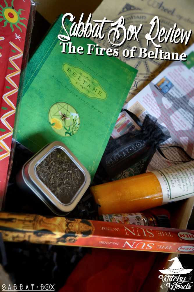 Witchy Words Sabbat Box Review The Fires Of Beltane