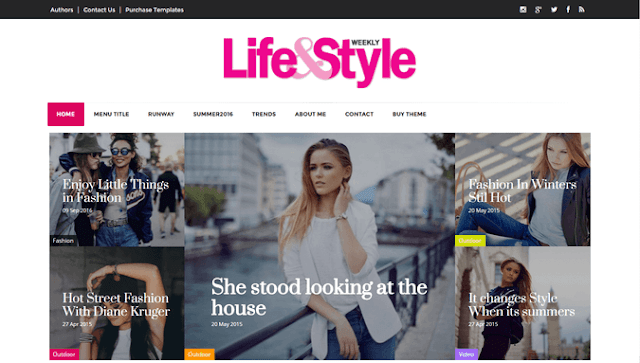 Lifestyle Magazine blogger template