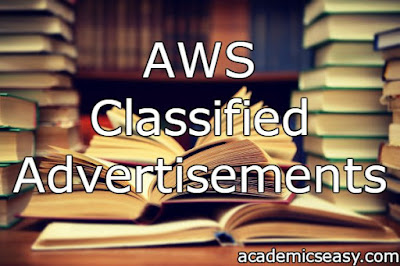 AWS: Classified Advertisements