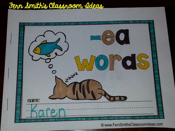 Printable Phonics Mini-Books for the -ea Family