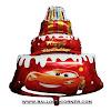 Balon Foil HAPPY BIRTHDAY Cake Jumbo Motif Cars