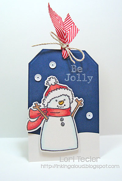 Be Jolly tag-designed by Lori Tecler/Inking Aloud-stamps from Avery Elle