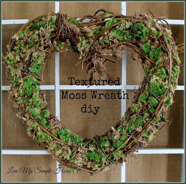 textured moss wreath diy