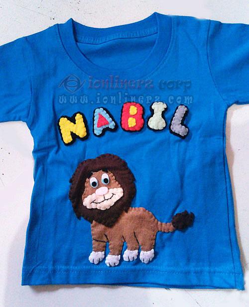 Kaos / Baju Flanel Anak Karakter Kartun Singa / Lion