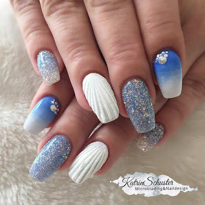 Magical creatures like unicorns have inspired many nail styles 21+ Mermaid Inspired Nails Ideas to Attract Your Beauty