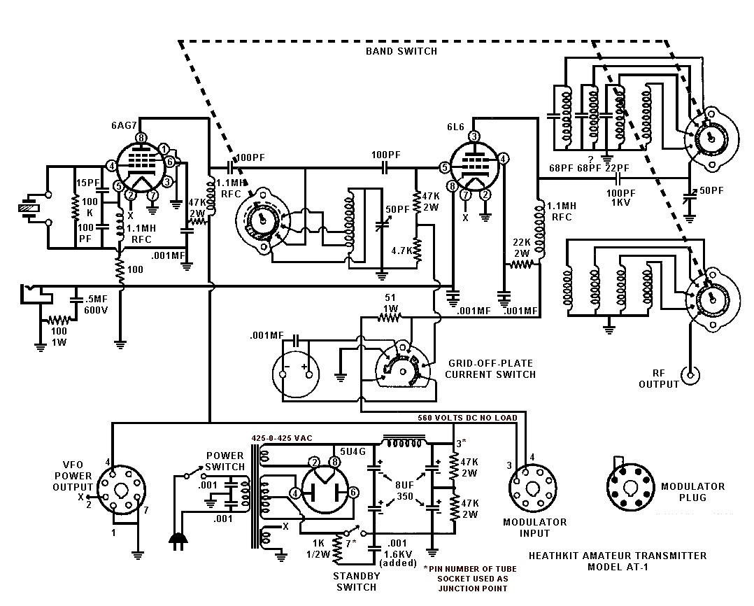 Heath Am Transmitter Schematic Wire Center Fm Circuit Page 2 Rf Circuits Nextgr Kf5czo Heathkit S First Amateur At 1 Rh Blogspot Com Simple