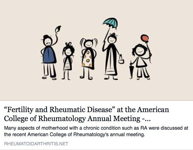 """From This Point  Forward : """"Fertility and Rheumatic Disease"""" at the"""
