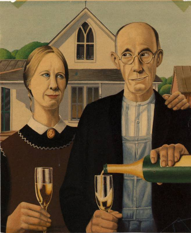 Second Effort Political Cartoon Art And A Little American Gothic Fun