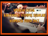 Aplikasi Cetak Kwitansi & Stempel Sekolah Otomatis Versi 2018