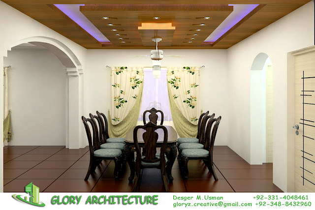 Dining Area Modern Ceiling Design We Are Providing Services House At Your Different Size Of Plot In Islamabad And Surrounding
