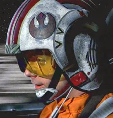 rebel logo on Luke's helmet