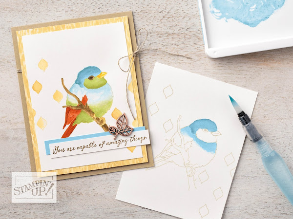 Stampin' Up! Watch It Wednesday - No Line Watercolouring Technique by Stampin' Up!