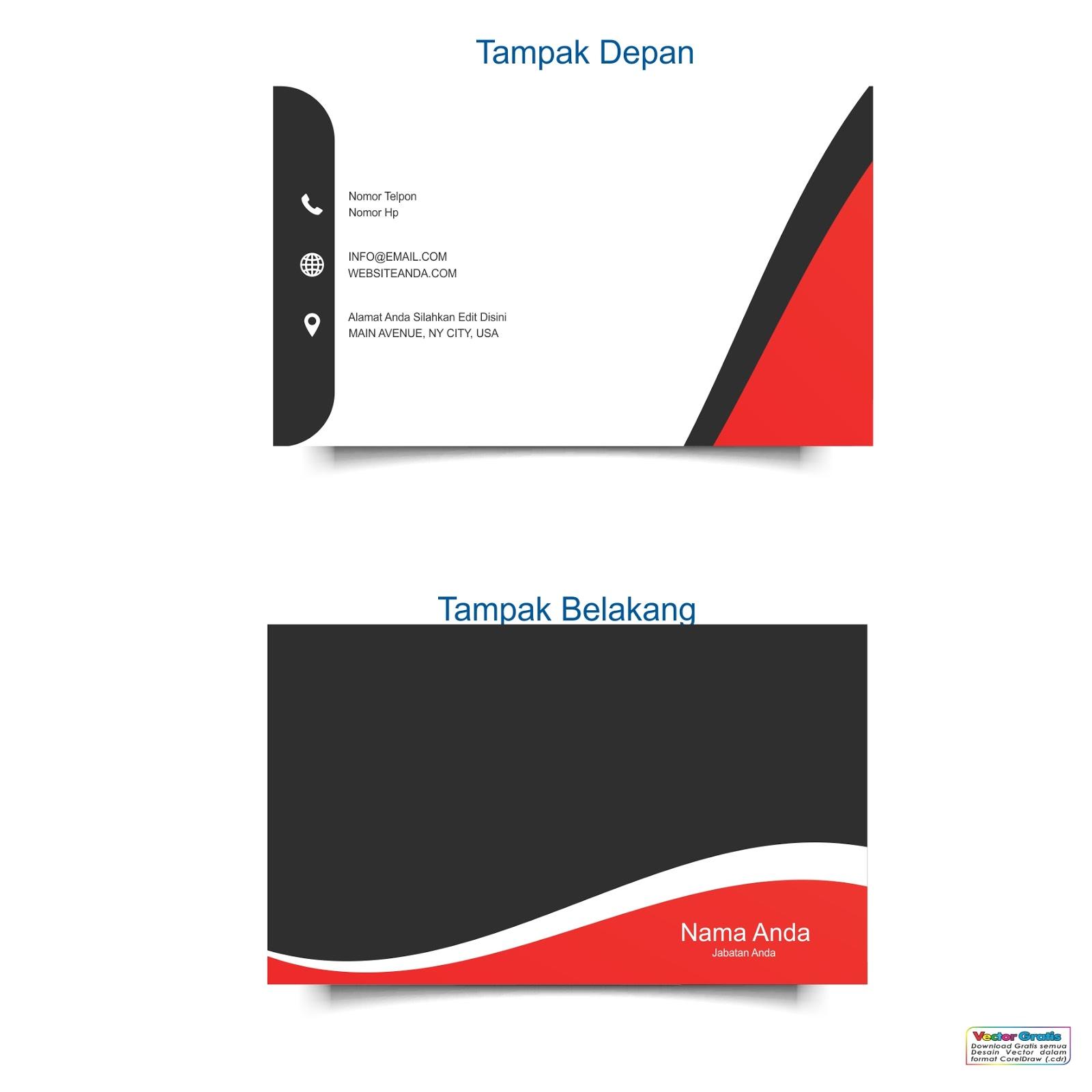 Gambar 50 Download Template Kartu Nama Keren Gratis Format ...
