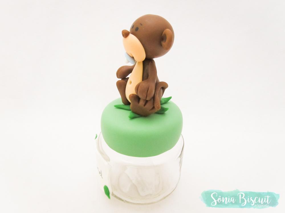 Lembrancinha, Topo de Bolo, Chá de Bebê, Macaquinho, Macaco, Biscuit, Sonia Biscuit